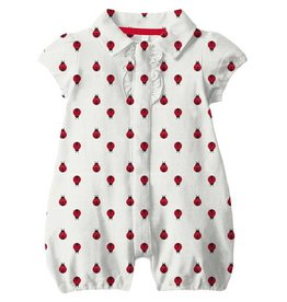 Magnetic Me Magnetic Me - Pique Polo Romper Ladybug