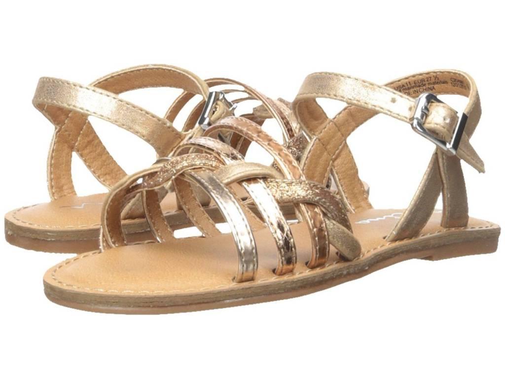 Nina Nina Clari Rose Gold Metallic Sandals