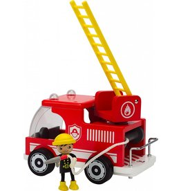 Hape Hape Fire Truck Wooden Play Set