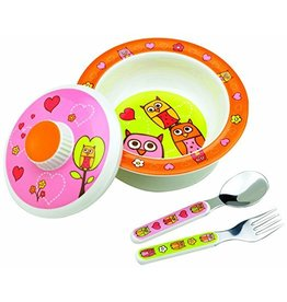 Ore Ore Sugarbooger Covered Suction Bowl Set-  Hoot