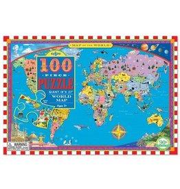 Eeboo Eeboo World Map 100-Piece Puzzle