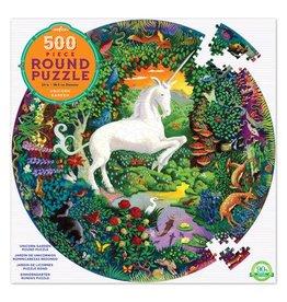 Eeboo Eeboo Unicorn Garden 500-Piece Round Puzzle
