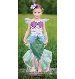 Great Pretenders Great Pretenders - Mermaid Dress & Hairband Pink (Size 5/6)