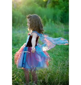 Great Pretenders Fairy Blossom Dress with Wings,  Blue/Mgnta Md