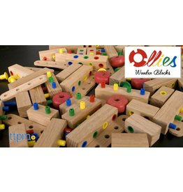 Ollies Wooden Blocks Ollie's Wooden Blocks 100pc Set