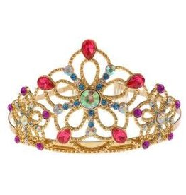 Great Pretenders Great Pretenders Bejewelled Tiara, Gold Metal with Multi Gems