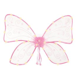 Great Pretenders Great Pretenders Magical Light Up Wings, Hot Pink
