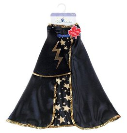 Great Pretenders Great Pretenders Reversible Wizard Cape/Hat, Blk