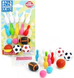 Iwako Sports Eraser Set 10-pack