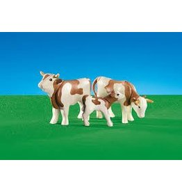 Playmobil Playmobil Brown and White Cow Family