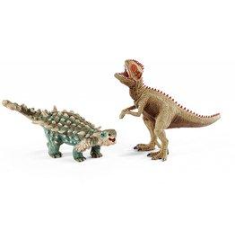 Schleich Schleich Saichania and Giganotosaurus, small