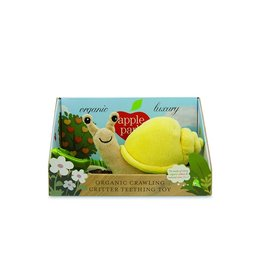 Apple Park Apple Park - Snail Crawling Teething Toy  (Yellow Velour)