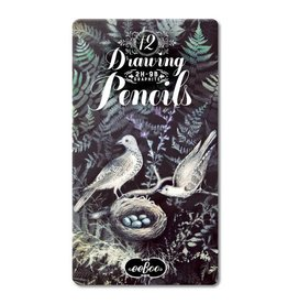 Eeboo eeBoo Doves in Ferns 12 Drawing Pencils Tin