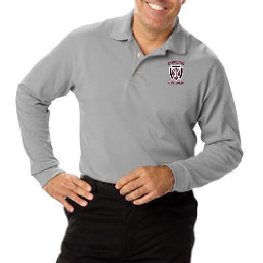 Men's Long Sleeve Cotton Polo - ONLINE