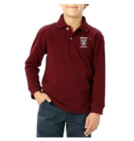 Blue Generation Youth Long Sleeve Cotton Polo - ONLINE