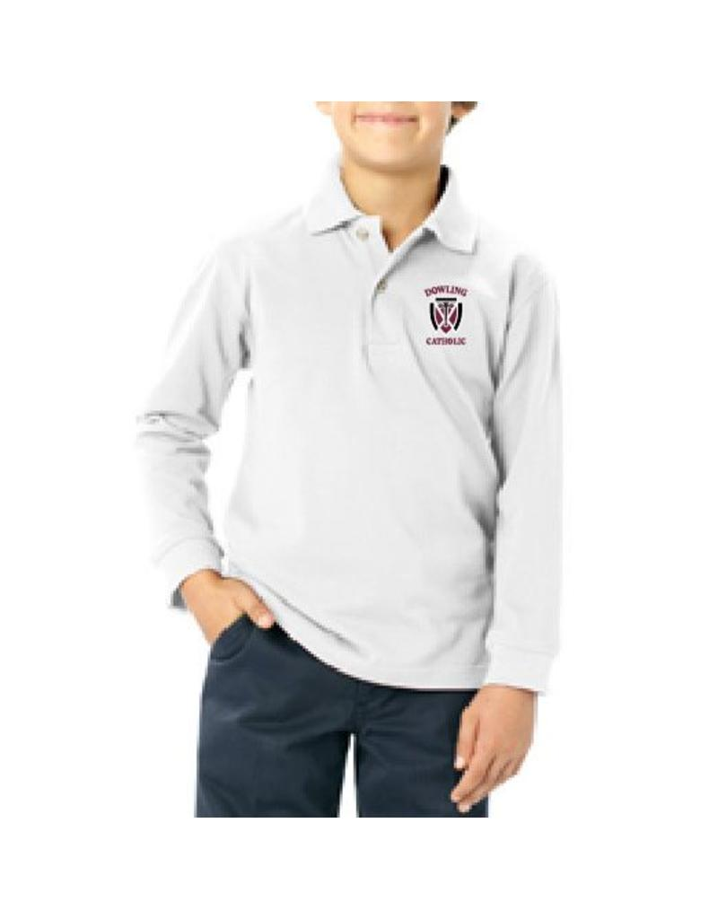Blue Generation Youth Long Sleeve Cotton Polo