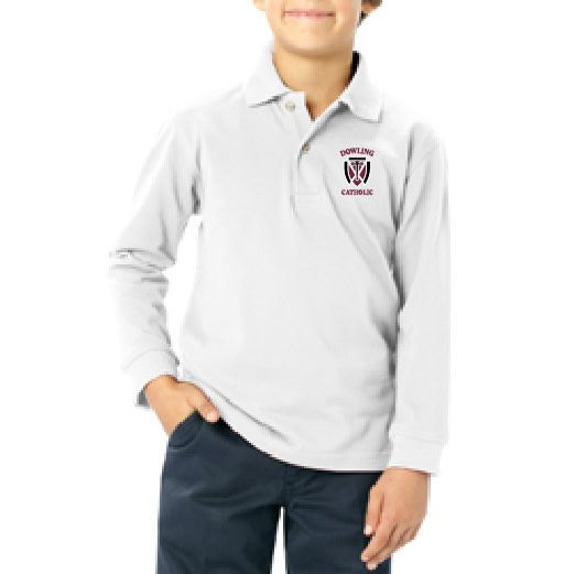 Youth Long Sleeve Cotton Polo