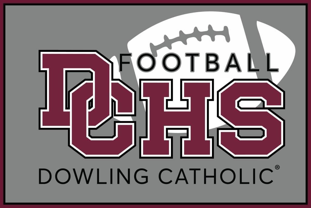 Dowling Catholic Car Decal Football