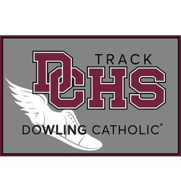 Accessories Dowling Catholic Car Decal Track