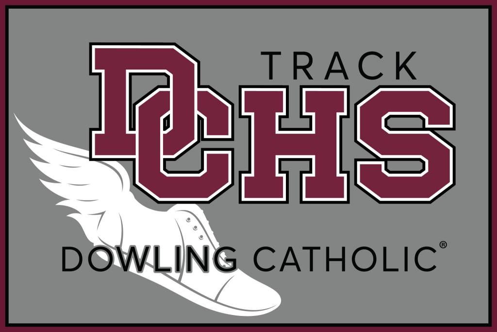 Dowling Catholic Car Decal Track