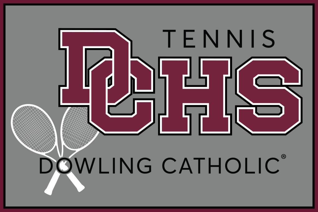 Dowling Catholic Car Decal Tennis