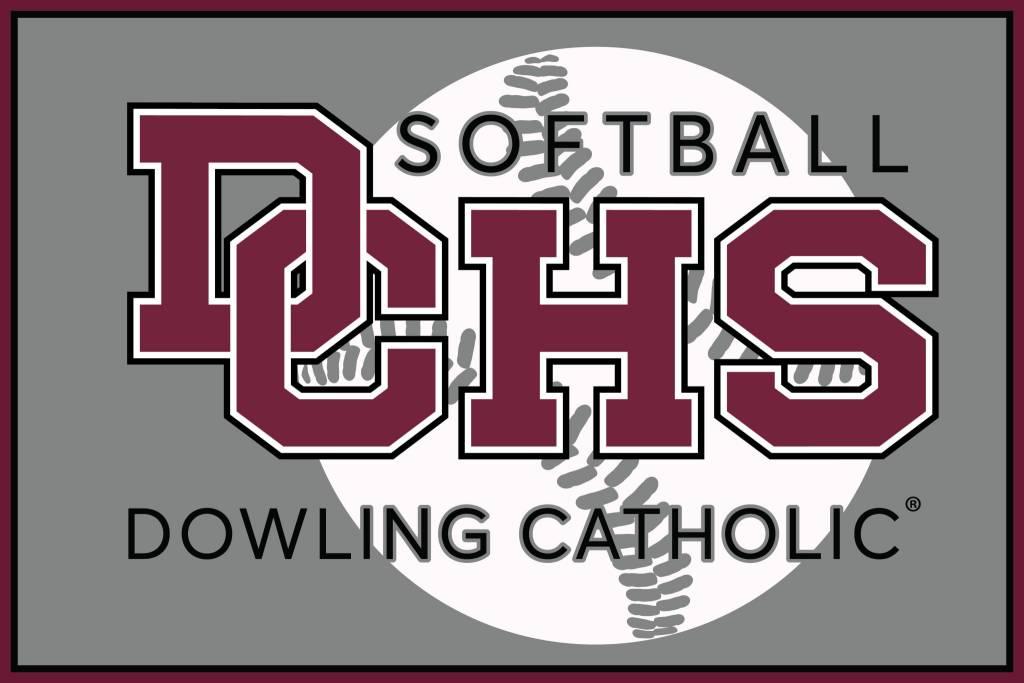 Dowling Catholic Car Decal Softball
