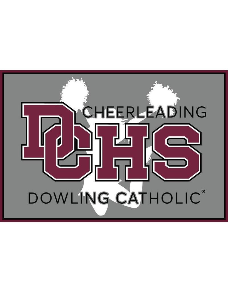 Accessories Dowling Catholic Car Decal Cheerleading