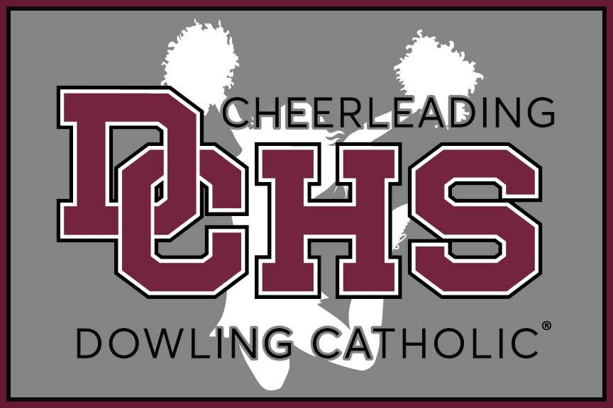 Dowling Catholic Car Decal Cheerleading