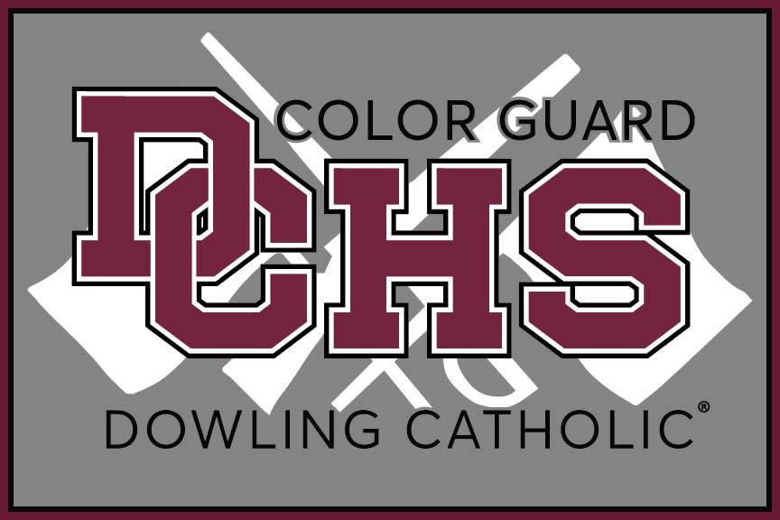 Dowling Catholic Car Decal Color Guard