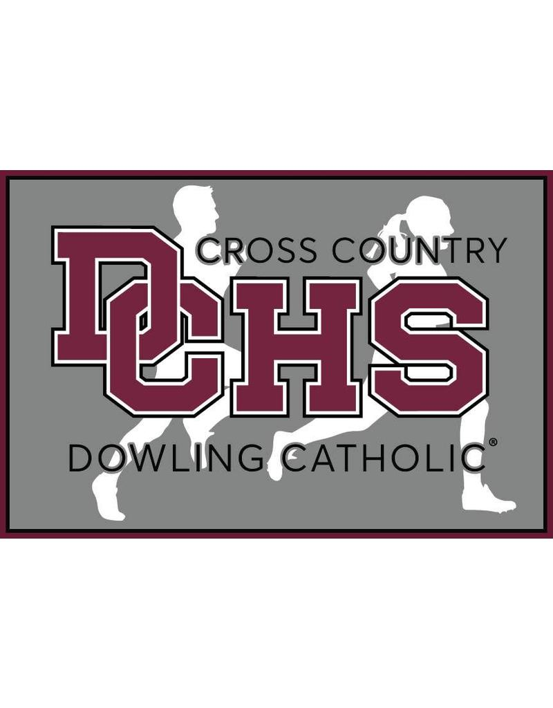 Accessories Dowling Catholic Car Decal Cross Country
