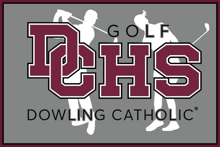 Dowling Catholic Car Decal Golf