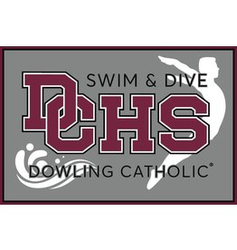 Accessories Dowling Catholic Car Decal Swim & Dive