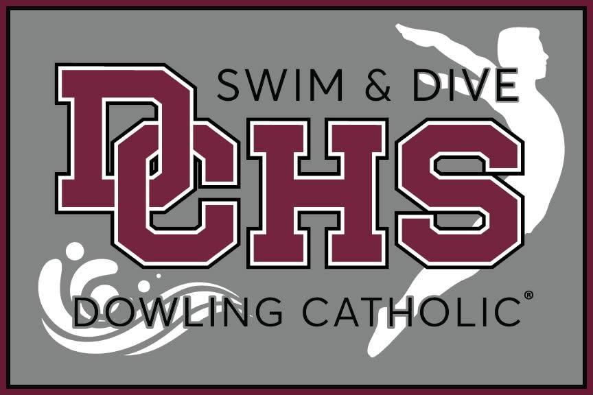 Dowling Catholic Car Decal Swim & Dive