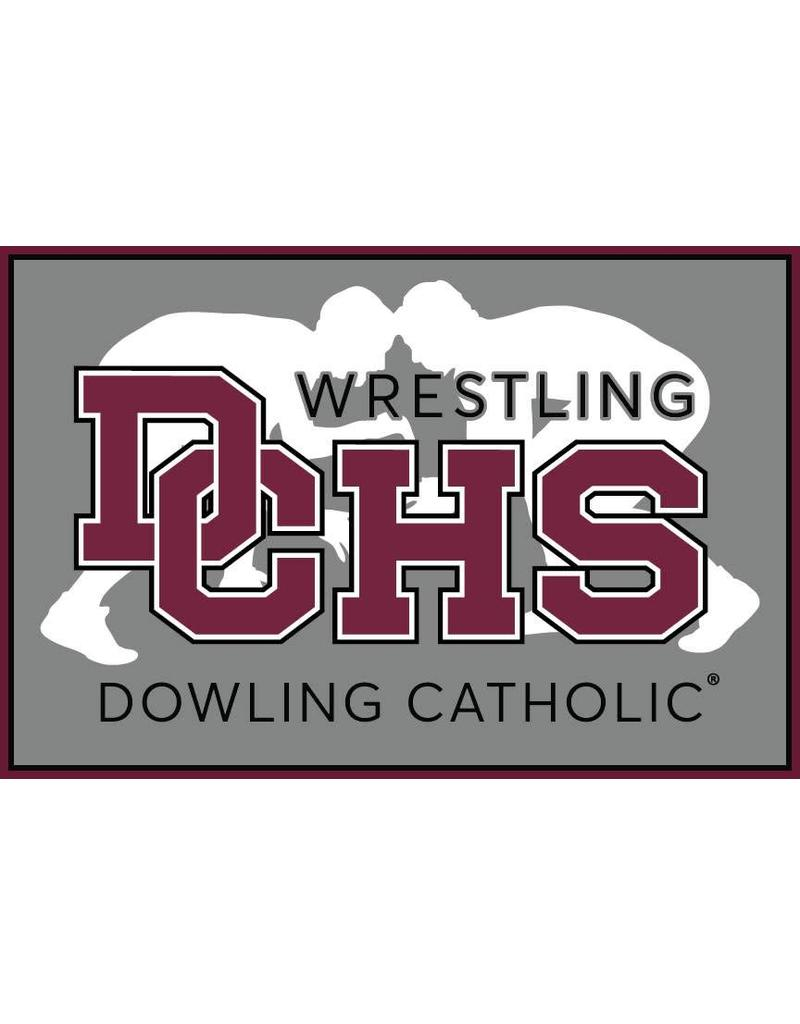Accessories Dowling Catholic Car Decal Wrestling