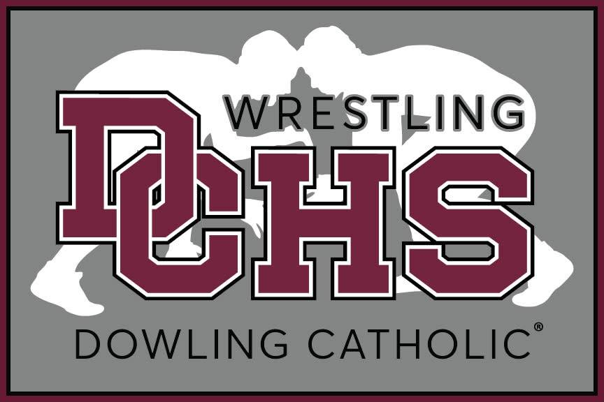 Dowling Catholic Car Decal Wrestling