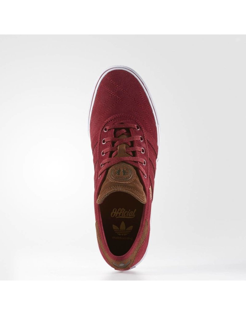 ADIDAS ADIDAS SKATEBOARDING ADIEASE PREMIERE ADV X OFFICIAL BURGUNDY / BROWN / WHITE