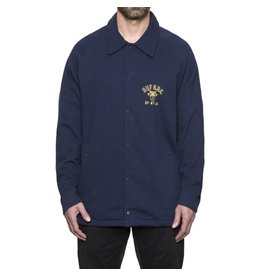 HUF HUF CADET FLEECE COACHES JACKET (NAVY)