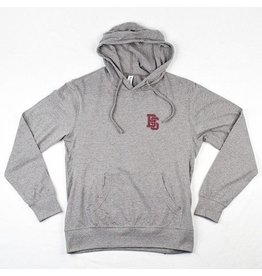 BLUETILE BLUETILE INTERLOCKING BS HOODIE GREY / GARNETT