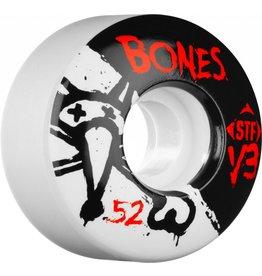 BONES BONES WHEELS STF V3 , WHITE /BLACK