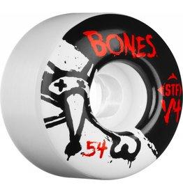 BONES BONES WHEELS STF V4 , WHITE /BLACK