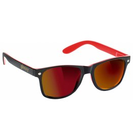 GLASSY GLASSY SUNHATERS LEONARD BLACK / RED . RED MIRROR