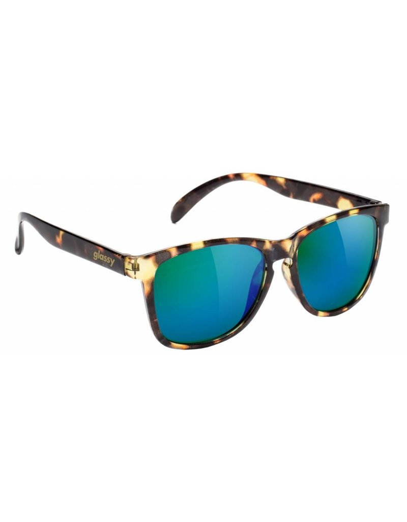 GLASSY GLASSY SUNHATERS DERIC TORTOISE / GREEN MIRROR