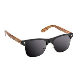 GLASSY GLASSY SUNHATERS SHREDDER BLACK / WOOD