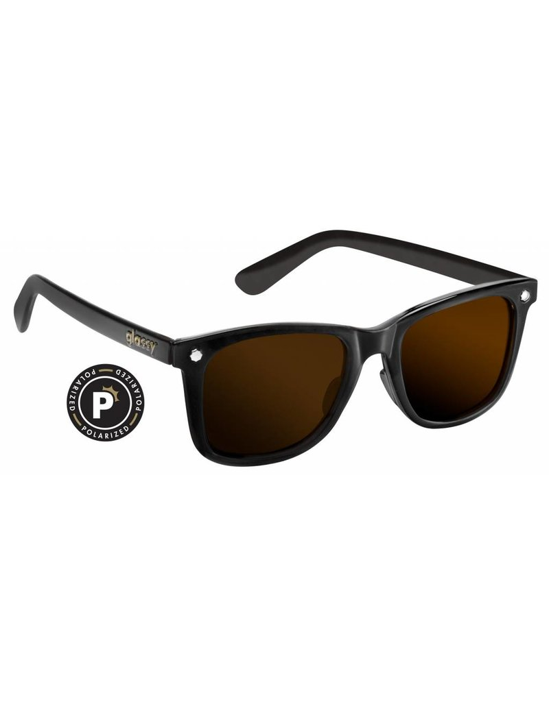GLASSY GLASSY SUNHATERS MIKE MO POLARIZED MATTE BLACK / BROWN LENS