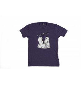 BLUETILE BLUETILE X STREET CANOE NEVER BREAK BONES T-SHIRT PURPLE / WHITE