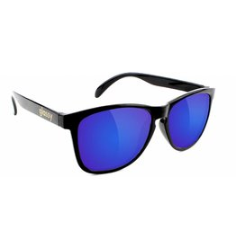 GLASSY GLASSY SUNHATERS DERIC BLACK / BLUE MIRROR