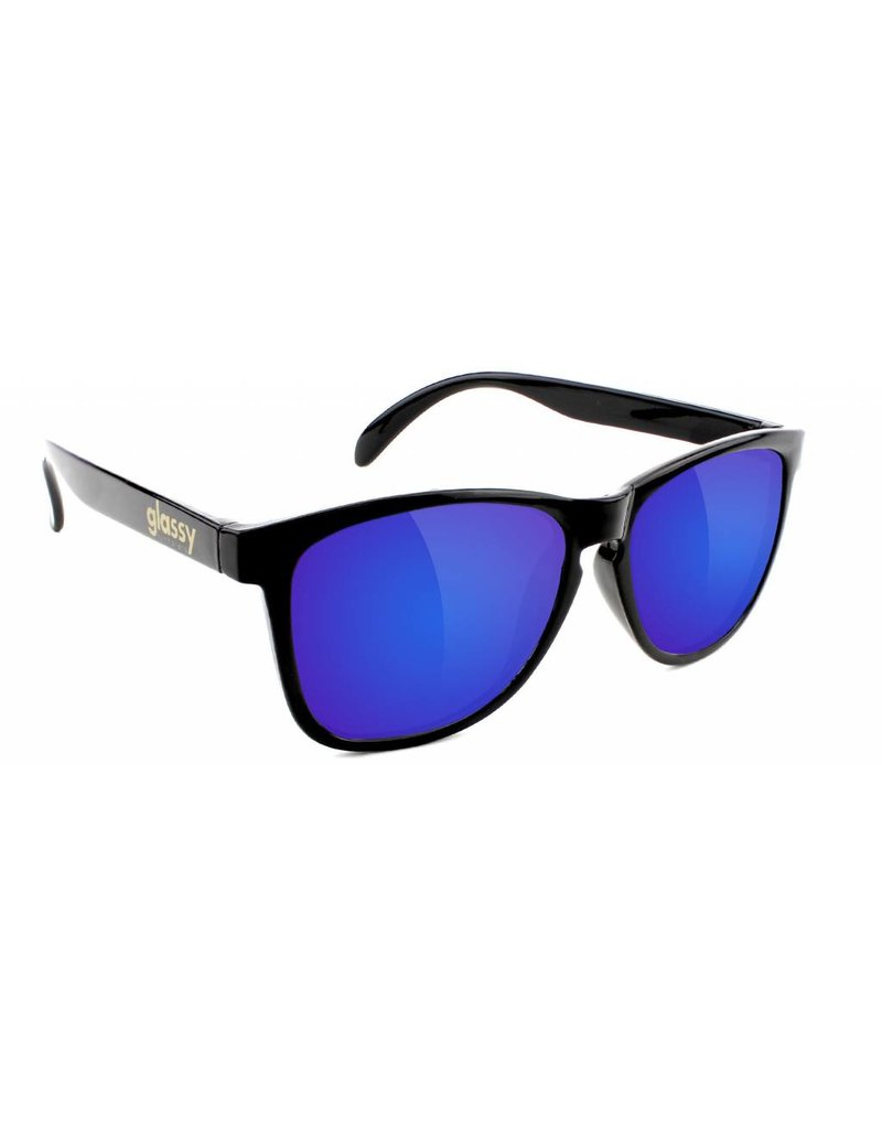 GLASSY GLASSY SUNHATERS DERIC BLACK / BLUE MIRROR