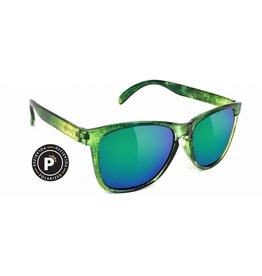 GLASSY GLASSY SUNHATERS JAWS POLARIZED GALAXY / GREEN MIRROR