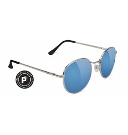 GLASSY GLASSY SUNHATERS CARLOS POLARIZED SILVER / TEAL MIRROR