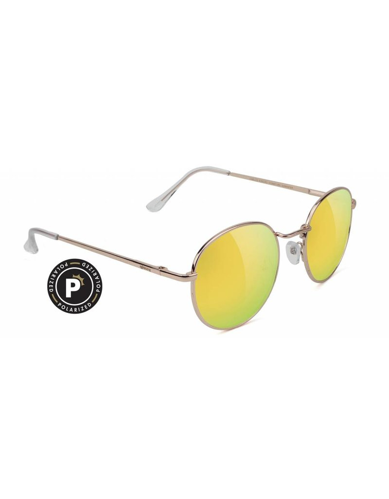 GLASSY GLASSY SUNHATERS CARLOS POLARIZED GOLD / GOLD MIRROR